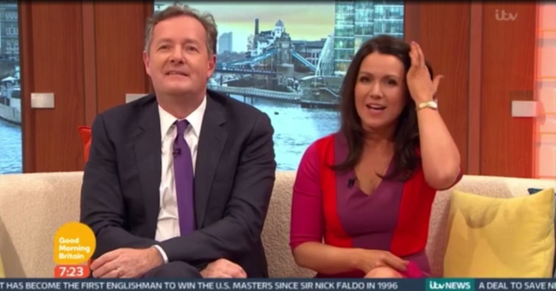 Piers Morgan and Susanna Reid were joined by some unexpected guests on 'Good Morning