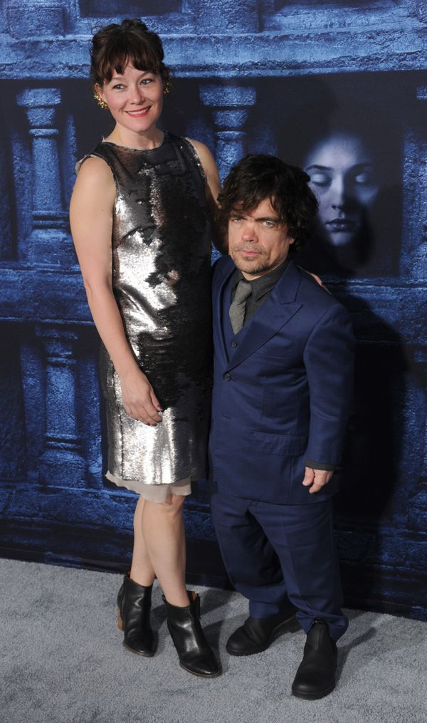 "Peter Dinklage and Erica Schmidt arrive at the premiere of HBO's ""Game Of Thrones"" Season 6 at TCL Chinese Theatre on Ap"