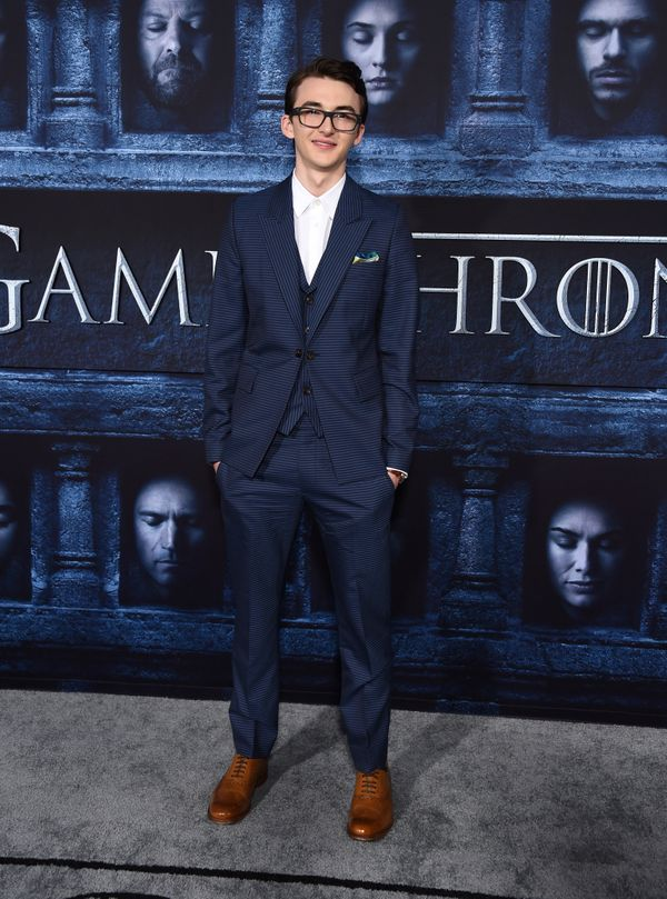 Isaac Hempstead Wright arrives at the premiere.