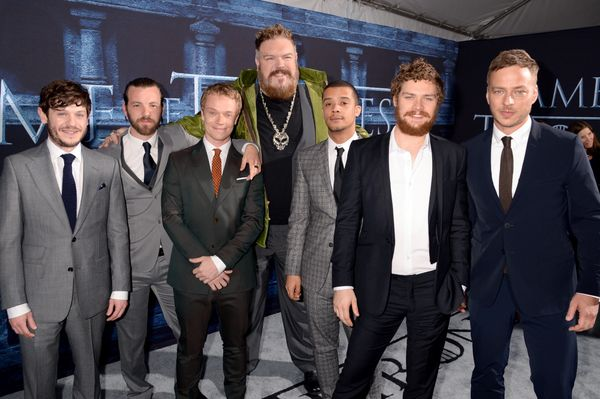 Actors Iwan Rheon, Gethin Anthony, Alfie Allen, Kristian Nairn, Jacob Anderson, Finn Jones, and Tom Wlaschiha.