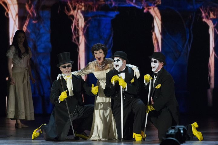 """Rivera performed with the cast of """"The Visit"""" at the 2015 Tony Awards in New York."""