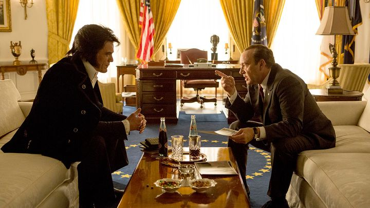 """Michael Shannon and Kevin Spacey share a scene from """"Elvis & Nixon."""""""