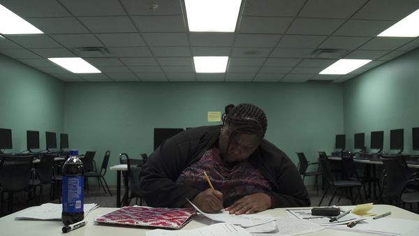 "In a diagnosis of America's low-income disadvantages, ""Night School"" follows three adults in impoverished Indiana neighborhoo"