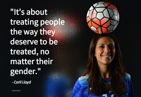 U.S. soccer champion Carli Lloyd is speaking out about the gender wage gap.