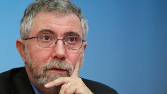 Nobel Prize winning economist Paul Krugman speaks during an interview in New York, May 4, 2012. REUTERS/Brendan McDermid (UNITED STATES - Tags: BUSINESS)