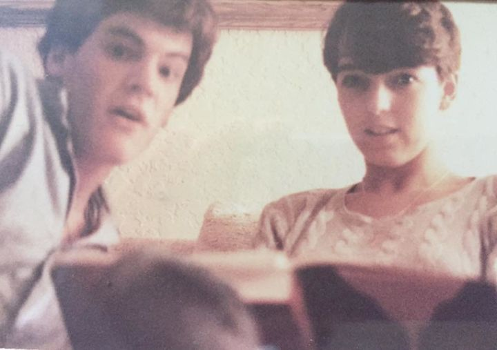 Adam and Debra Silbar when they first met.