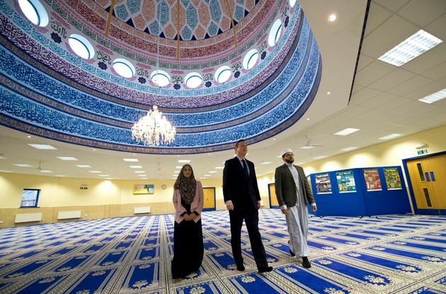 David Cameron visited the Makkah Masjid Mosque in Leeds in