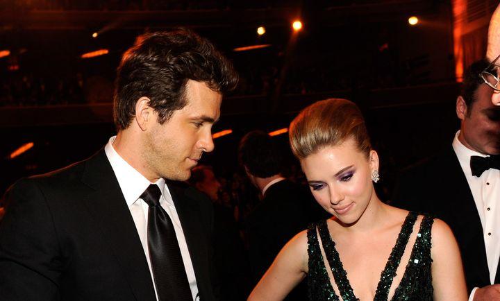 Kevin Mazur Via Getty Images Ryan Reynolds And Scarlett Johansson