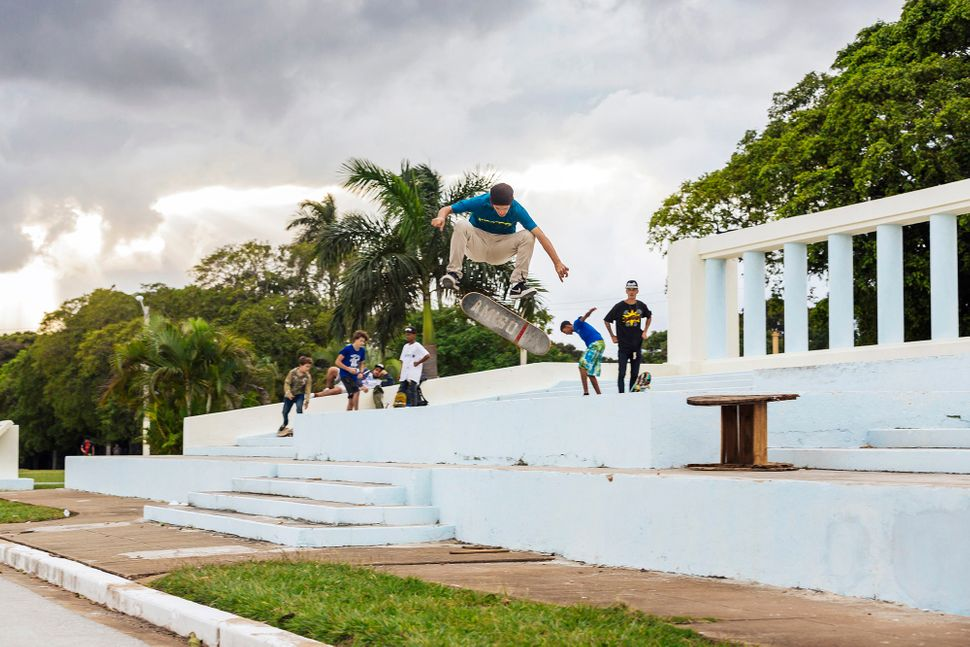 "Harold Luis Mendez skates in Cuba with a deck donated by <a href=""http://xlarge.com/"">XLARGE</a>. (All Photos are Copyright o"