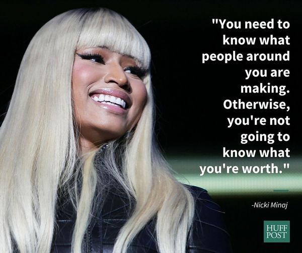 In a May 2015 interview with Cosmopolitan, Nicki Minaj urged young women to talk about how much they're paid in order to
