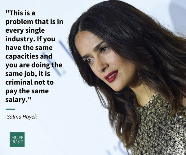 At Variety's Power of Women luncheon in October 2015, Salma Hayek gave a riveting speech on gender equality and the importanc