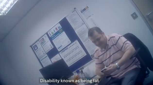 The Capita assessor was filmed making insulting