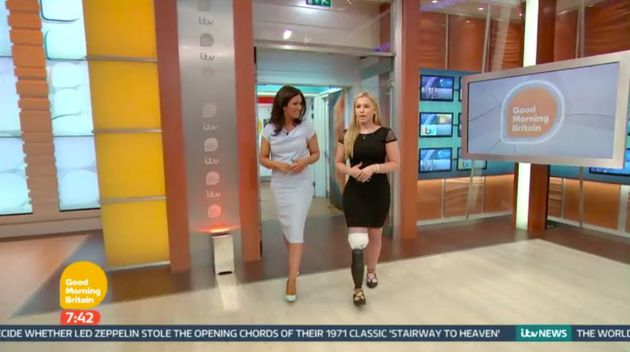Balch shows off her new leg on Good Morning Britain on