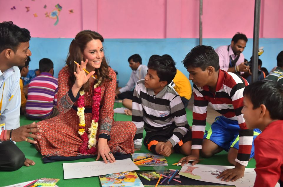 The Duke and Duchess of Cambridge Visit Street Children On Day 3 Of India