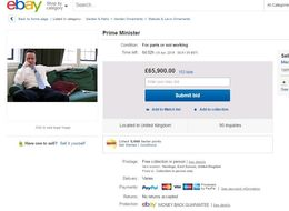 David Cameron Is Being Auctioned Off On eBay 'For Parts Or Not Working'