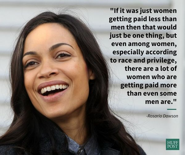 "In a November 2015 interview with MTV, Rosario Dawson talked about how the pay gap is different for women of color. ""It&"