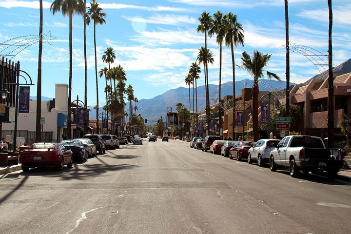 Downtown Palm Springs on a typically sunny day.