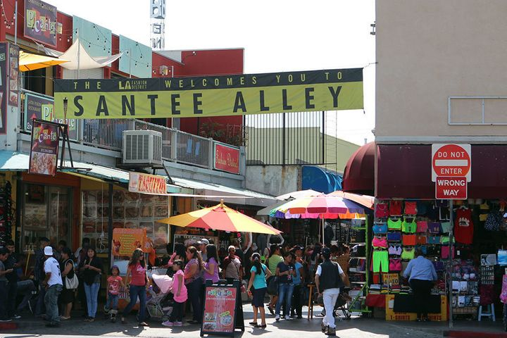 Bargain shopping paradise, The Santee Alley in Los Angeles, California.
