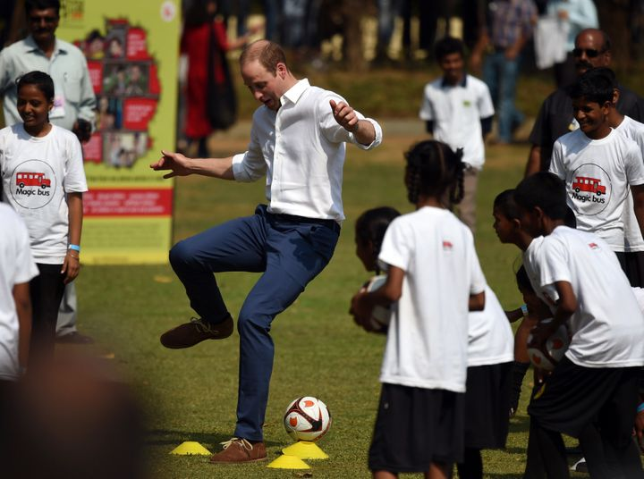Prince William with the tekkers.