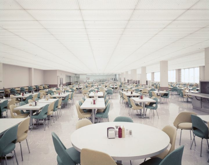Ford Engineering Research Center cafeteria, 1958.