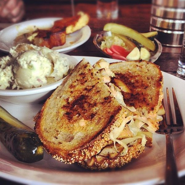 """Make your way to San Francisco for <a href=""""https://foursquare.com/v/wise-sons-jewish-delicatessen/4f38086ee4b017ad7bab79d7"""""""