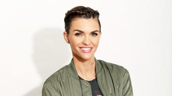 In this Tuesday, Jan. 5, 2016 photo, actress Ruby Rose poses for a portrait in Los Angeles. The Orange is the New Black actress Rose trades her Litchfield jumpsuit for distressed overalls in a new campaign for Denim & Supply Ralph Lauren. Rose stars alongside model Hailey Baldwin in the brands spring 2016 social media videos and global ads. (Photo by Matt Sayles/Invision/AP)