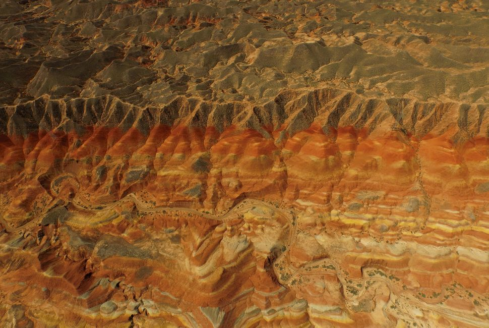 "Colorful rock formations at the <a href=""http://www.gsjw.gov.cn/content/2013-06/1493.html"" target=""_blank"">Danxia National Ge"