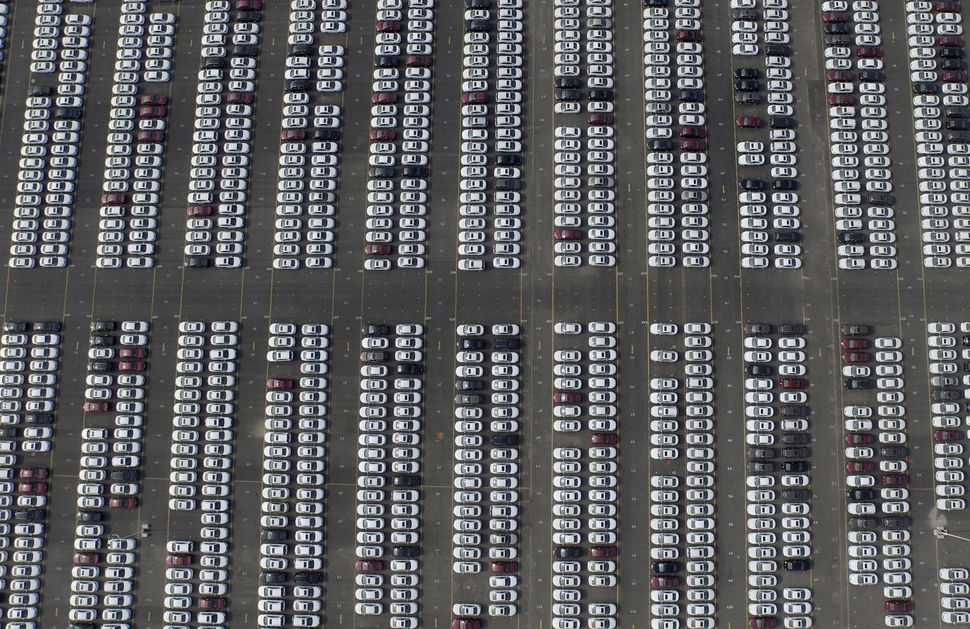 Brand new Chevrolet cars are parked at a General Motors parking lot in Shenyang, a city in Liaoning province.