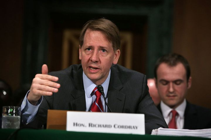 "Richard Cordray, the Consumer Financial Protection Agency's director, seen here seeming evidently not ""Hydra-headed."" PHH Cor"