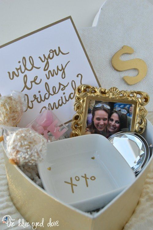 Or one with a framed pic of you and your bridesmaid-to-be.