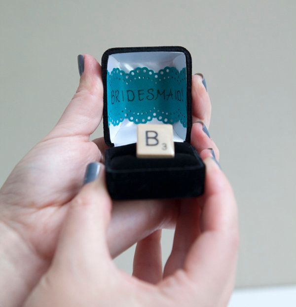 Or spread the word with a Scrabble ring.