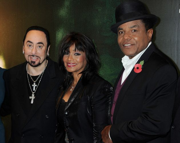 David Gest with two of the Jackson clan, Rebbie and Tito, in