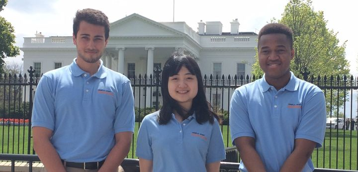 """Amro Halwah, Si Ya """"Wendy"""" Ni and Stephen Mwingria are representatives from the Lemelson-MIT InvenTeam who will be at the 2016 White House Science Fair."""