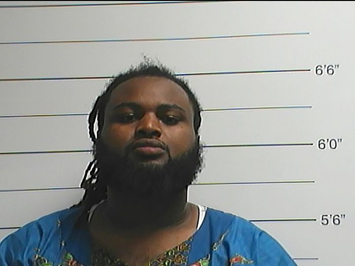 Cardell Hayes is seen in a booking photo released by the New Orleans Police Department, in New Orleans, Louisiana April 10, 2