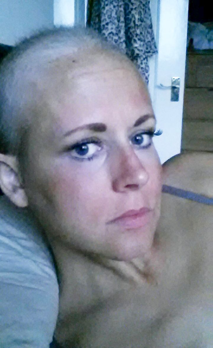 Lisa's during one of her chemotherapy treatments in August 2015