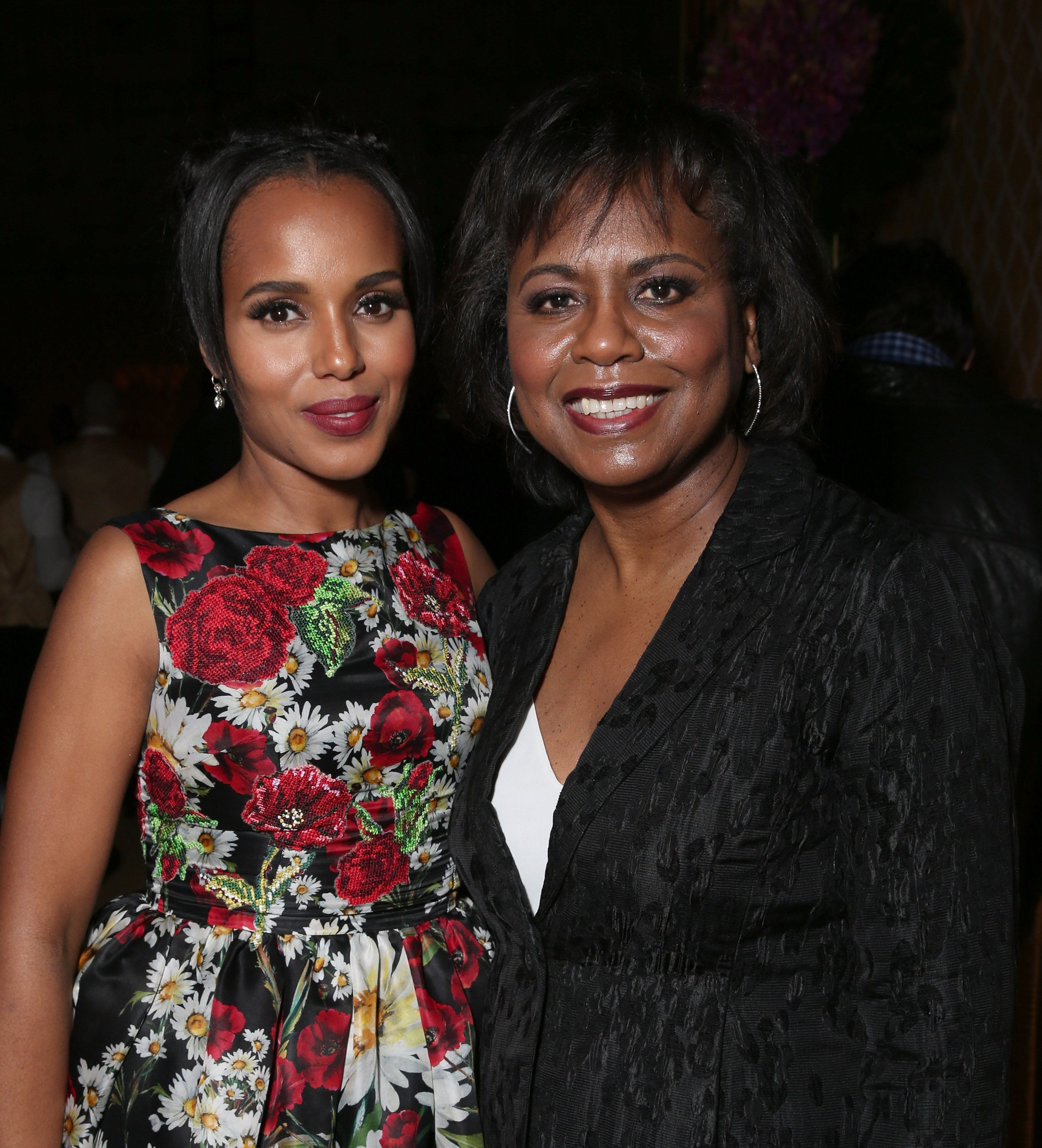 HOLLYWOOD, CALIFORNIA - MARCH 31:  Kerry Washington and Anita Hill attend the after party for the premiere of HBO Films' 'Confirmation' at Paramount Studios on March 31, 2016 in Hollywood, California.  (Photo by Todd Williamson/Getty Images)