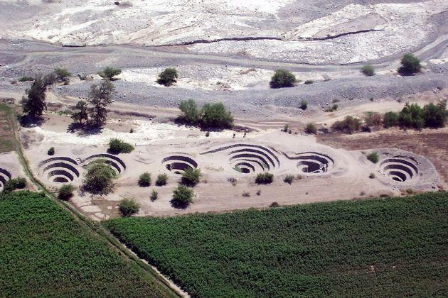 Puquios stud the arid Peruvian