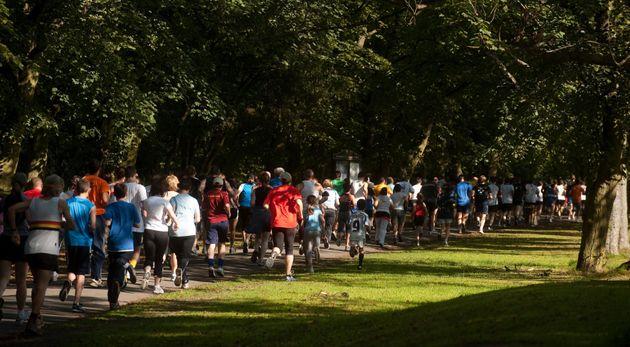 Thousands of people take part in parkruns all over the