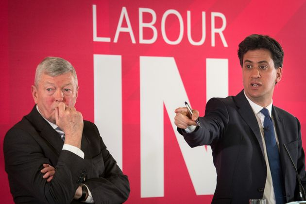 Former leader Ed Miliband withAlan Johnson, leader of the 'Labour In'