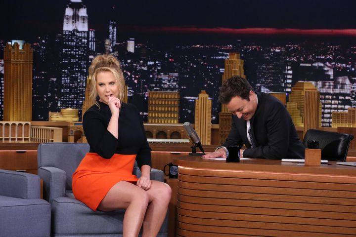 "Comedian Amy Schumer appeared on ""The Tonight Show Starring Jimmy Fallon"" on April 12, 2016 -- apparently after deciding that"