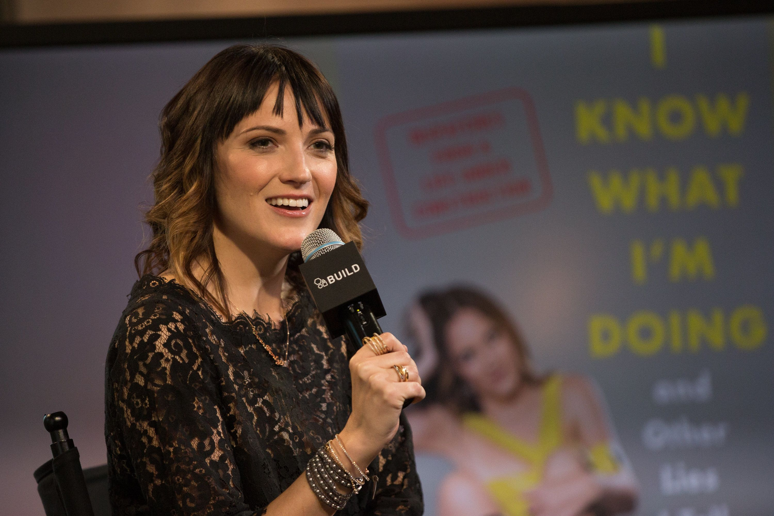 NEW YORK, NEW YORK - APRIL 11:  Comedian Jen Kirkman discusses 'I Know What I'm Doing And Other Lies I Tell Myself' at AOL Studios In New York on April 11, 2016 in New York City.  (Photo by Adela Loconte/WireImage)