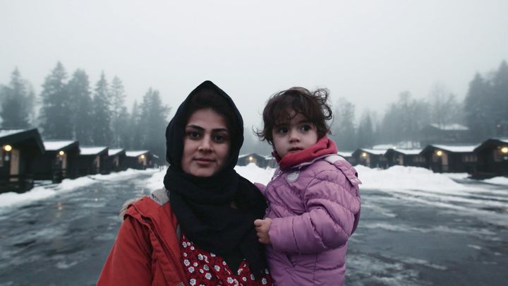 A Syrian mother and child who live at High Chaparral.