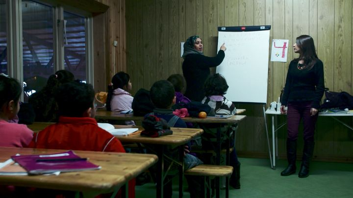 Syrian children go to school at High Chaparral.