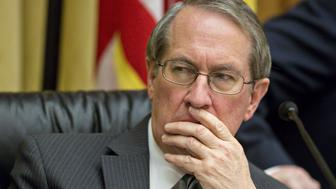 Representative Bob Goodlatte, a Republican from Virginia and chairman of the House Judiciary Committee, listens during a House Judiciary Committee hearing in Washington, D.C., U.S., on Tuesday, March 1, 2016. When members of Congress grill Apple Inc. Tuesday on why it refused to help the FBI unlock a terrorists iPhone, the company will be fresh from a courtroom victory that bolsters its case against the government. Photographer: Andrew Harrer/Bloomberg via Getty Images