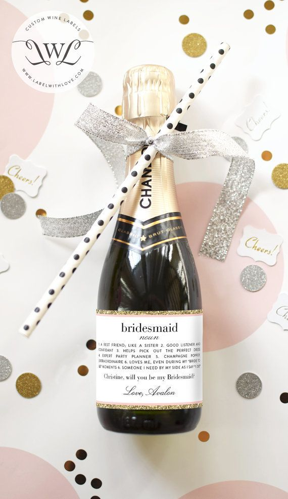 Get the party started with apersonalized bottle of bubbly.