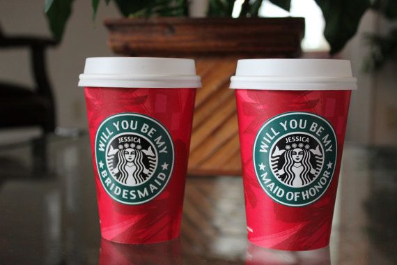 Wake up and smell the coffee with a personalized Starbucks cup.
