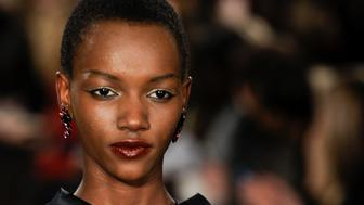 NEW YORK, NY - FEBRUARY 12:  Model Herieth Paul seen on the runway at the Zac Posen show during Fall 2012 Fashion Week on February 12, 2012 at the David Koch Theatre in Lincoln Center in New York City.  (Photo by Arun Nevader/WireImage)
