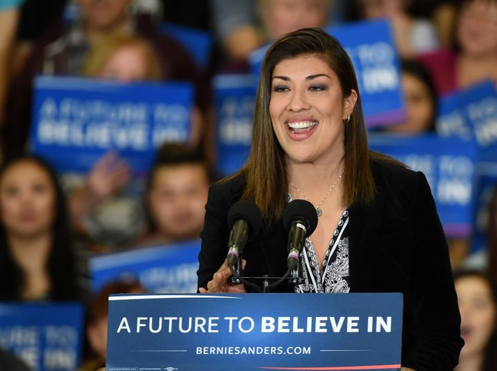 Lucy Flores, endorsed by Bernie Sanders, is running for Congress in Nevada's 4th congressional district.