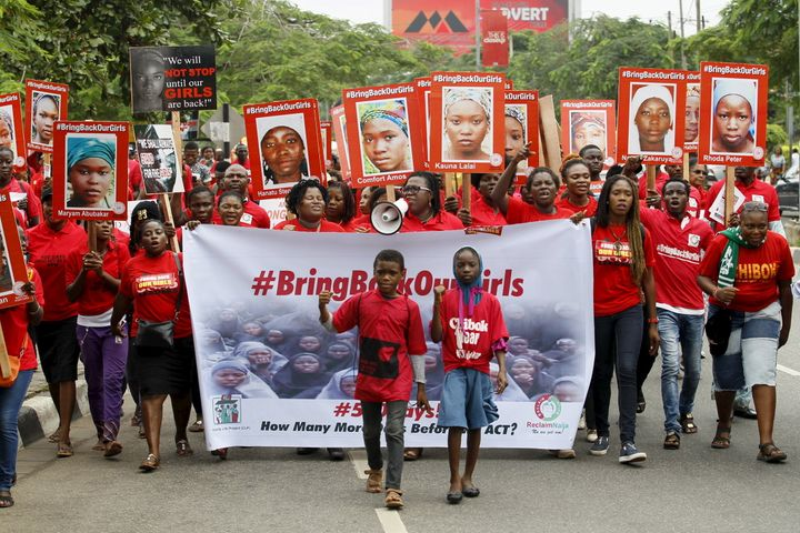 "Islamist militant group Boko Haram kidnapped over 200 girls from their boarding school in April 2014. Nigeria's ""Bring Back O"