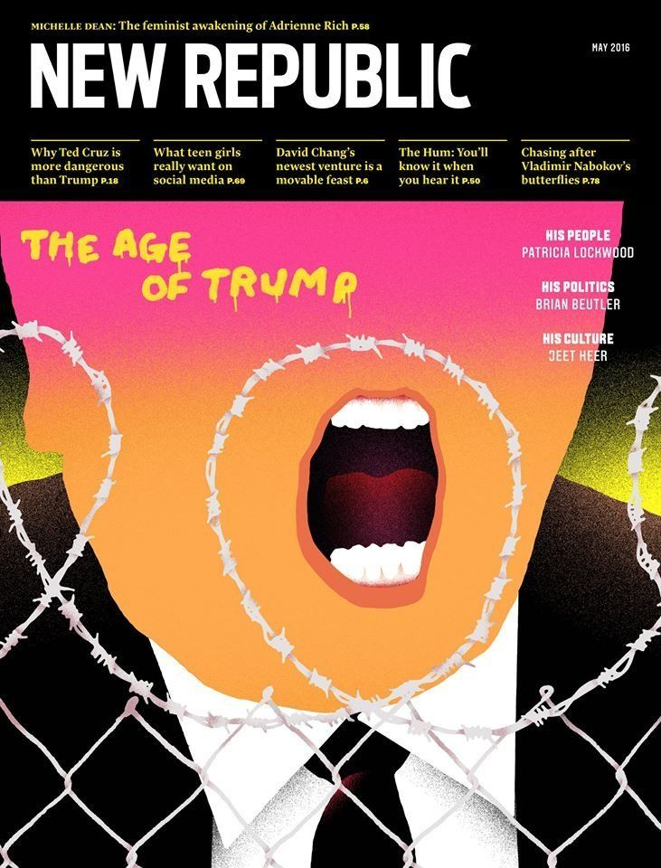 The cover of the May issue of the New Republic.